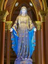 Blessed Virgin Mary, mother of Jesus, sculpture under an arch Royalty Free Stock Photo