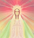 Blessed virgin mary portrait illustration Stock Photos