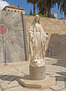 Blessed virgin mary s statue nazareth israel summer Royalty Free Stock Photos