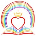 Blessings from God, a heart with a crown over an open Bible and