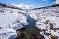 Bleu de galopin montagne de neige dans nsw australia Images libres de droits