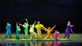 Blind colorful dance december in nanchang china disabled art troupe performances Royalty Free Stock Image