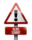 Blind summit warning sign illustration design over a white background Stock Photo