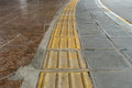 Blind tactile way paving for handicap Royalty Free Stock Photography