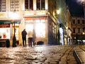 Blinding Lights In Belgium - Chocolate Shop in Brussels Grand Place Royalty Free Stock Photo