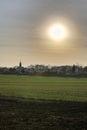 Blinding Sun Over Ottersleben HDR Royalty Free Stock Photo