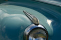 Blinker of vintage car closeup view and headlight Stock Image