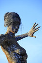 Bliss dance san francisco oct foot mesh sculpture of a woman called by artist marco cochrane on treasure island in san francisco Stock Image