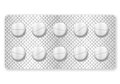 Blister pills medicine pill on a white background Stock Photo