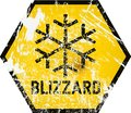 Blizzard warning sign, vector Royalty Free Stock Photo