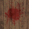 Bllood stain wooden wall or floor with Stock Photos