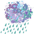 Blob rain vector illustration of grunge cloud with Royalty Free Stock Photos