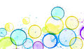 Blobs bottom yellow paint circle art watercolor on a white background Stock Photos