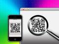 Blocchi un codice di QR (risposta rapida) Immagine Stock Libera da Diritti