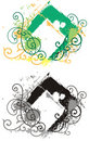 Blocco per grafici del ornamental di Grunge Fotografie Stock