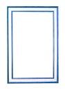 Blocco per grafici di legno della foto isolato su bianco Fotografie Stock Libere da Diritti
