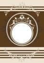 Blocco per grafici ornamentale antico. Banner.Frame. Fotografia Stock