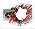 Blocco per grafici shield-shaped di vettore Fotografie Stock Libere da Diritti