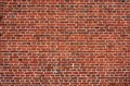 Block background . old brick wall of red bricks. Royalty Free Stock Photo