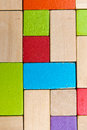 Block background some colored wooden blocks creates a Royalty Free Stock Photography
