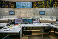 Block control panel of nuclear power plant Royalty Free Stock Photo
