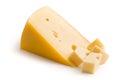 Block of edam cheese Royalty Free Stock Photo