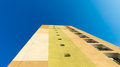 Block of flats colourful seen from the bottom with the blue sky background Royalty Free Stock Photography
