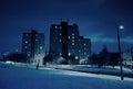 Block Of Flats In Winter At Ni...