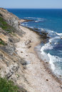 Block island rhode island view of the mohegan bluffs section of located in the state of usa Stock Photo