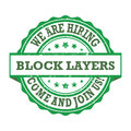 Block layers - We are hiring, come and join us Royalty Free Stock Photo