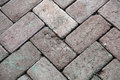 Block paving to floors yard Royalty Free Stock Photo