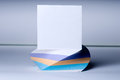 Block of sheets for notes with a raised white sheet Royalty Free Stock Photography