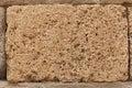 Block of tuff on wall of medieval palace stone texture single brick tufa Stock Images