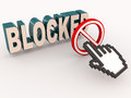 Blocked access from online or account concept Royalty Free Stock Photos