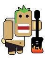 Blockhead rocker Stock Photo