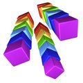 Blocks. 3D illustration Stock Photos