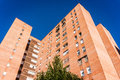 Blocks of council flats in a working class neighborhood valladolid spain Royalty Free Stock Photos