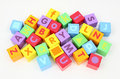 Blocks with letters Stock Photography