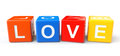Blocks with love sign Royalty Free Stock Photo