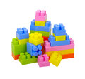 Blocks plastic toy on white background Stock Photo