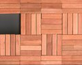 Blocks wooden with a gleam Stock Images