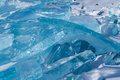 Blocs ice baikal lake Royalty Free Stock Photo