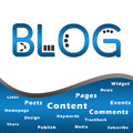 Blog Blue with Keywords Royalty Free Stock Images