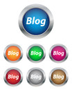 Blog buttons Stock Image