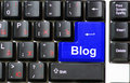 Blog de clavier Photographie stock