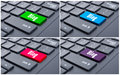 Blog enter button on black keyboard Royalty Free Stock Photo