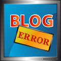 Blog error icon Royalty Free Stock Photography