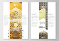 Blog graphic business templates. Page website design template, easy editable, flat layout. Islamic gold pattern Royalty Free Stock Photo