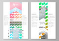 Blog graphic business templates. Page website design template, easy editable vector layout. Colorful rectangles, moving Royalty Free Stock Photo