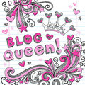 Blog Queen Sketchy Doodle Web Icon Design Royalty Free Stock Image